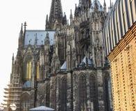 Patrimoine mondial - une cathédrale de Roman Catholic Gothic à Cologne Octobre 2018 photographie stock libre de droits