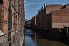 Patrimonio cultural Speicherstadt Hamburgo del mundo Fotos de archivo libres de regalías