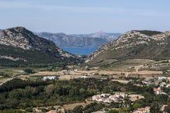 Patrimonio, Haute-Corse, Κορσική, ανώτερη Κορσική, Γαλλία, Ευρώπη, νησί Στοκ Φωτογραφία