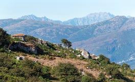 Patrimonio hills in Corsica island Royalty Free Stock Photos