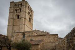 Romanesque church in Zamora, Spain. Patrimonio histórico en de estilo románico en Zamora Stock Image