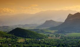 Patrimonio landscape in corsica royalty free stock photography