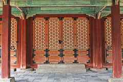 Patrimonio mondiale dell'Unesco della Corea - palazzo di Seoul Changdeokgung immagine stock