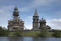 Patrimonio mondiale dell'Unesco di ripristino di Kizhi Pogost fotografia stock libera da diritti