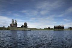 Patrimonio mondiale dell'Unesco di ripristino di Kizhi Pogost immagine stock libera da diritti