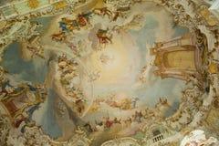 Patrimonio mondiale della pittura della chiesa in Germania Fotografie Stock Libere da Diritti