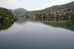 Patrimonio mondiale di regione del vino di Douro del negativo per la stampa di cartamoneta Fotografia Stock Libera da Diritti
