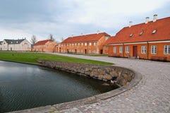 Patrimonio mondiale Kronborg, villaggi Elsinore delle Camere Immagine Stock