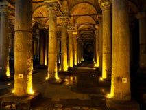 Patrimonio mondiale Yerebatan Sarnici dei luoghi pubblici A nella città storica della Turchia immagini stock libere da diritti