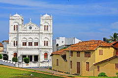 Patrimonio mundial de la UNESCO del fuerte Meeran Jumma Masjid - de Sri Lanka de Galle Imagenes de archivo