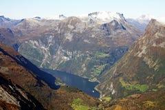 Patrimonio mundial - Geirangerfjord Foto de archivo