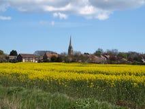 Patrington村庄和农田东部约克夏英国 免版税库存照片