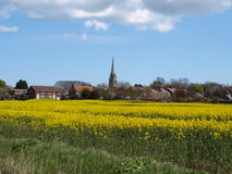 Patrington Village And Farm Fields East Yorkshire UK. Royalty Free Stock Photo