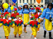 Patrino Karnavali, carnaval 2009 de Patra fotografía de archivo