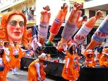 Patrino Karnavali, carnaval 2009 de Patra Image stock