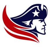Patriot. America flag patriot design royalty free illustration