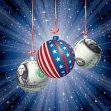 Patriot balls dollar Royalty Free Stock Image
