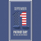 Patriot Day abstract background. 11 September. Royalty Free Stock Image