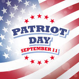 Patriot day america. Banner american flag background Stock Photography