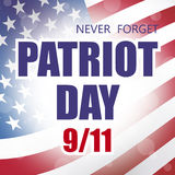 Patriot day. American flag background illustration Stock Photo