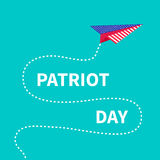 Patriot Day background Paper plane Dash line Royalty Free Stock Photos