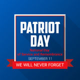 Patriot Day background for September 11.   Stock Images