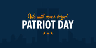 Patriot day background. September 11. We will never forget. Royalty Free Stock Images