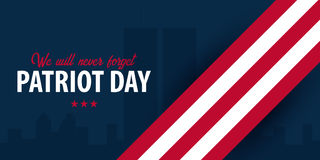 Patriot day background. September 11. We will never forget. Stock Images