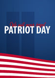 Patriot day background. September 11. We will never forget. Royalty Free Stock Photo