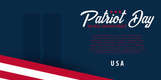 Patriot day background. September 11. We will never forget. Royalty Free Stock Photography