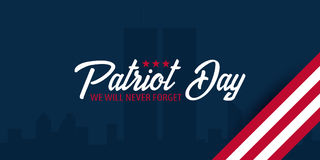 Patriot day background. September 11. We will never forget. Stock Photos