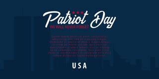Patriot day background. September 11. We will never forget. Royalty Free Stock Image