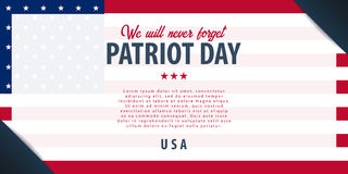 Patriot day background. September 11. We will never forget. Patriot day background. September 11. We will never forget Royalty Free Stock Photos