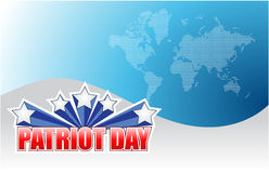 Patriot day background sign illustration. Design graphic Royalty Free Stock Image