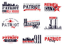 Patriot day background Royalty Free Stock Image