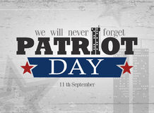 Patriot day background Royalty Free Stock Images