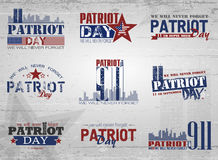 Patriot day background. Patriot Day. Vector illustration. 11 th September Royalty Free Stock Image