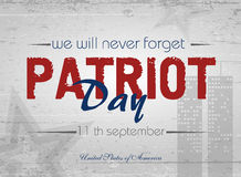 Patriot day background. Patriot Day. Vector illustration. 11 th September Stock Photo