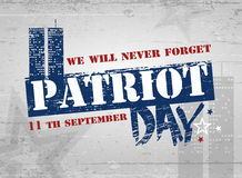 Patriot day background. Patriot Day. Vector illustration. 11 th September Stock Images