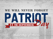 Patriot day background. Patriot Day. Vector illustration. 11 th September Royalty Free Stock Photography