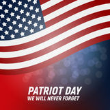 9.11 Patriot Day background We Will Never Forget Poster Template Vector illustration. EPS10 Stock Photography