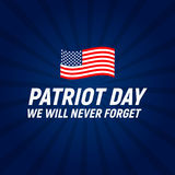 9.11 Patriot Day background We Will Never Forget Poster Template Vector illustration. EPS10 Stock Photo