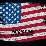 9.11 Patriot Day background We Will Never Forget Poster Template Vector illustration. EPS10 Royalty Free Stock Photo
