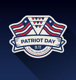 Patriot day badge logo design. Vector illustration Royalty Free Stock Image