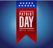 Patriot day banner sign illustration design. Over a blue background Stock Photography