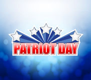 Patriot day bokeh background sign Stock Photography