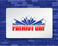 Patriot day brick wall background sign. Illustration design graphic Stock Photos