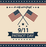 Patriot Day. Card or background. vector illustration. We will never forget stock illustration