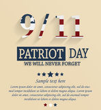 Patriot day card. 9/11 Royalty Free Stock Images