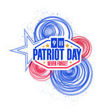 patriot day circles illustration design Stock Images